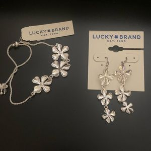 Lucky brand floral earring/bracelet set